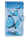 PU Leather Material Blue Butterfly Pattern Phone Case for Samsung Galaxy G530/J5/J310