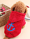 Cat / Dog Coat Red / White / Blue / Gray / Rose Winter / Spring/Fall Nautical Holiday, Dog Clothes / Dog Clothing