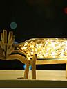 לשכות מנורת מקוריות מיטה מנורה וודי יצירתי הובילה תצוגת 1pc של זיקוקין בים של אור בלילה פנסים
