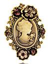 moda da antiguidade do ouro de prata do vintage broches pinos de strass joias rainha cameo das mulheres para as mulheres do presente do