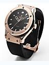Damen / Paar / Unisex Modeuhr / Armbanduhr Quartz / Caucho Band Bequem Schwarz Marke