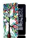 kleurrijke boom patroon lederen full body case met standaard en kaartslot voor Amazon Kindle Paperwhite / Kindle Paperwhite 2
