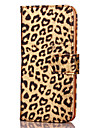 KARZEA Leopard Print Pattern TPU and PU Leather Case with Stand for Apple iPhone 7 7 Plus 6s 6 Plus