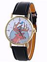 Girl Quartz Watch Clock Women Leather Casual Dress Women\'s Christmas Deer Wristwatch Cool Watches Unique Watches
