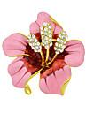 мода красивая эмаль горный хрусталь большой цветок броши для женщин