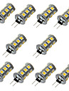 3W G4 Двухштырьковые LED лампы T 18 SMD 5050 200-300 lm Тёплый белый / Холодный белый Декоративная DC 12 V 10 шт.