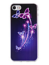 Painted Butterfly Pattern  Transparent TPU Material Phone Case for  iPhone 7 7 Plus 6s 6 Plus SE 5s 5