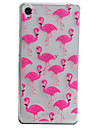 Crane Pattern Material TPU Phone Case For Sony Xperia E5 XA