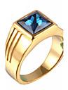 Массивные кольца Титановая сталь Мода Винтаж По заказу покупателя Золотой Серебряный Бижутерия Повседневные Новогодние подарки 1шт