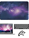 """Case for Macbook Air 11"""" MacBook Pro 13""""/15"""" with Retina display Cartoon Plastic Material Star Night PVC Hard Case with  Screen Film"""