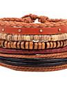 Браслеты Кожаные браслеты Кожа Геометрической формы Мода / Регулируется Повседневные Бижутерия Подарок Разные цвета,1шт