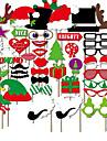 50шт фото реквизита орнаменты рождества колпачок& красные губы& усы