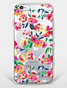 Pour Coque iPhone 7 Coques iPhone 7 Plus Coque iPhone 6 Motif Coque Coque Arriere Coque Fleur Flexible PUT pour AppleiPhone 7 Plus iPhone