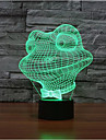 grenouille tactile 3d gradation conduit lumiere de nuit lampe atmosphere decoration 7colorful eclairage nouveaute lumiere de Noel