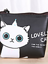 patron de dibujos animados del gato de la PU bolso de cuero con el cambio