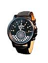 324 YAZOLE Fashion Men\'s Business Dress Watch Leather Strap Blue Ray Glass Analog Quartz Wrist Watches