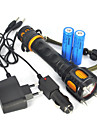Tactical 2500Lm XM-L T6 LED Flashlight Audible Alarm Torch Lamp Light  2X18650