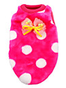 Cat / Dog Vest Blue / Pink / Rose / Black-White Dog Clothes Winter / Spring/Fall Polka Dots Cute / Keep Warm