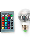 AC85-265V 3.5W B22 E14 E27 RGB LED Intelligent Remote Control Discoloration Bulbs 1Pc
