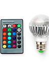 5W E14 / B22 / E26/E27 Умная LED лампа G60 1 SMD 5050 680 lm RGB Регулируемая / На пульте управления / Декоративная V 1 шт.
