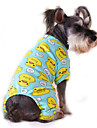 Cat Dog Clothes/Jumpsuit Pajamas Multicolor Dog Clothes Winter Spring/Fall Cartoon Cute Casual/Daily