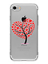 Pour Coque iPhone 7 / Coques iPhone 7 Plus / Coque iPhone 6 Motif Coque Coque Arriere Coque Arbre Flexible TPU AppleiPhone 7 Plus /
