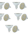 10PCS MR16 3W 250-300LM 60SMD 3528  DC12V Warm White/White Dimmable LED Spotlight