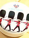 ταξιδιωτικό μεταλλικό καρτούν Βρετανοί στρατιώτες αλλάξει ακουστικά κουτί αποθήκευσης (τυχαία χρώμα)