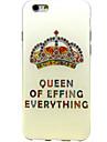 motif de couronne de diamant tpu couverture souple pour 6s iphone plus / 6 plus