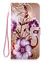 Pour Porte Carte / Portefeuille / Avec Support / Clapet Coque Coque Arriere Coque Fleur Dur Cuir PU pour AppleiPhone 7 Plus / iPhone 7 /