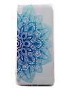 Para sony xperia xa capa capa azul meia flores padrao pintado tpu material telefone caixa