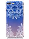Pour Translucide Coque Coque Arriere Coque Fleur Flexible TPU AppleiPhone 7 Plus / iPhone 7 / iPhone 6s Plus/6 Plus / iPhone 6s/6 /