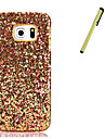 For Samsung Galaxy S7 edge S7 Rhinestone Case Back Cover Case Glitter Shine Hard PU Leather With Stylus