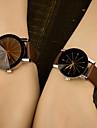 Men\'s Women\'s Fashion Watch Colorful / Quartz Leather Band Casual Blue