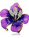 женская мода сплав / горный хрусталь цветок броши булавка партия / ежедневно / свадебный шарф зажимы ювелирных изделий 1шт