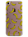 For iPhone 7 7 Plus 6S 6 Plus SE 5S Case Cover Banana Pattern High Permeability Painting TPU Material Phone Case