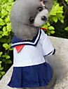 Cat Dog Costume Dress Dog Clothes Fashion Cosplay Sailor Blue