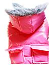 Cachorro Casacos Roupas para Caes Mantenha Quente Solido Azul Escuro Cinzento Vermelho Rosa claro