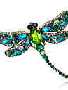 Women\'s Fashion Alloy/Rhinestone/Crystal Dragonfly Brooches Pin Party/Daily/Wedding Luxury Jewelry 1pc