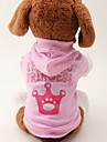 Cat / Dog Hoodie Pink Dog Clothes Spring/Fall Tiaras & Crowns Fashion