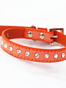 Cat / Dog Collar Adjustable/Retractable Rhinestone / Mosaic Red / Black / Blue / Pink / Purple / Orange / Rose Genuine Leather