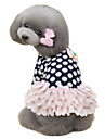 Dog Dress Dog Clothes Winter Spring/Fall Polka Dots Cute Dark Blue Pink
