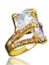 Кольцо Цирконий Позолота 18K золото Золотой Белый Бижутерия Свадьба Для вечеринок Повседневные 1шт