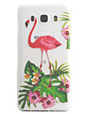 For Samsung Galaxy J5 J3 (2016) Case Cover Flamingo Pattern High Permeability Painting TPU Material Phone Case