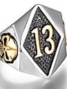 Кольцо Титановая сталь В форме черепа Панк Серебряный Золотой Бижутерия Повседневные 1шт