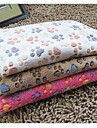 Cat / Dog Bed Pet Blankets Double-Sided / Foldable Corduroy Brown / Beige / Rose
