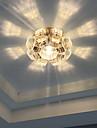 Потолочный светильник Тёплый белый / Холодный белый Хрусталь / Светодиодная лампа / Мини / Лампа входит в комплект 1 шт.