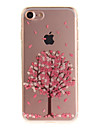 For iPhone 7 6S 6 TPU Material IMD Process Cherry Tree Pattern Phone Case