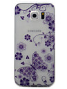 For Samsung Galaxy S7 S6 Case Cover Butterfly Pattern Painted TPU Material Phone Case