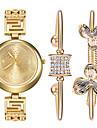 Women \'s Watch and Bracelet Titanium Steel Bracelet Watch Set Ak Style Gold Ladies Watch Rhinestone Quartz Watch Montres Femme